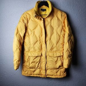 Lands End Yellow Puffer Jacket Sz. S